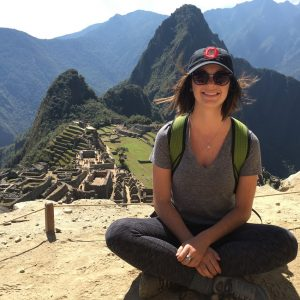 Michelle Meek in front of Machu Pichu