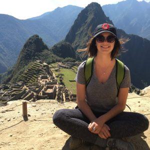 Michelle Meek in front of Machu Pichu