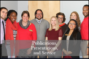 HESA group photo with the text: Publications, Presentations and Service