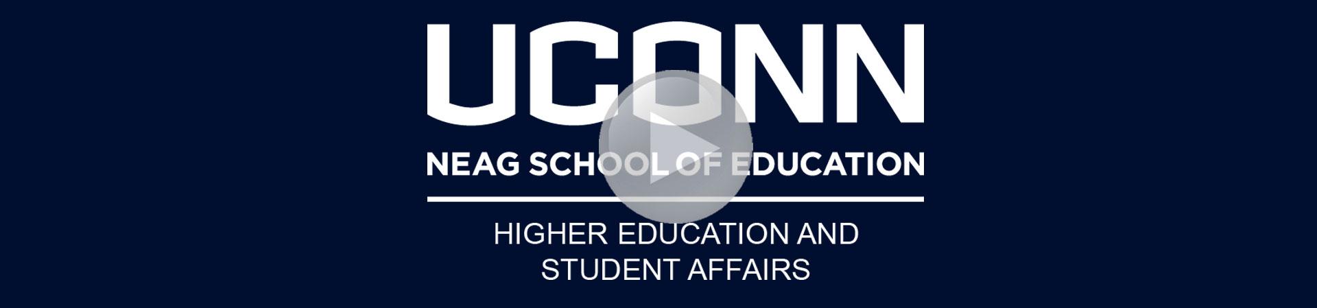 Blue Neag School of Education HESA logo banner