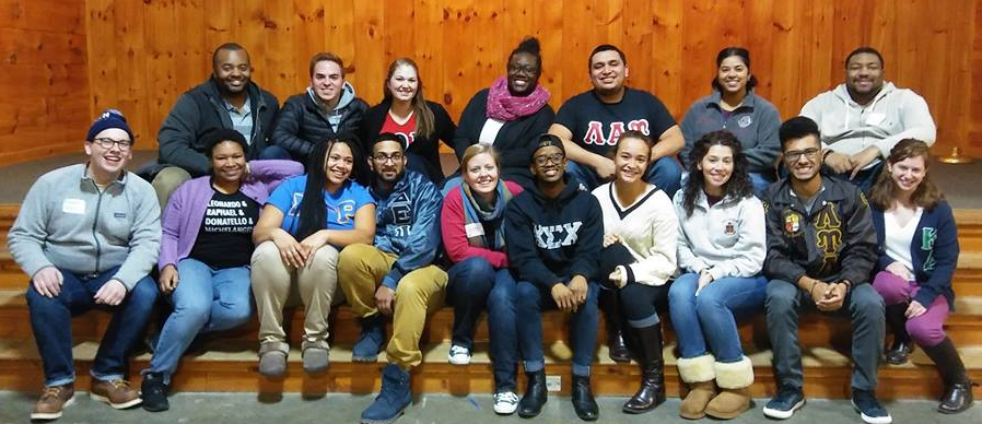 Group photo of IMPACT retreat for UConn Greek student leaders