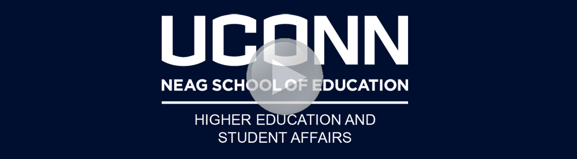 HESA Promotional Video.  HESA logo serves as the photo with the following text: UConn Neag School of Education, Higher Education and Student Affairs