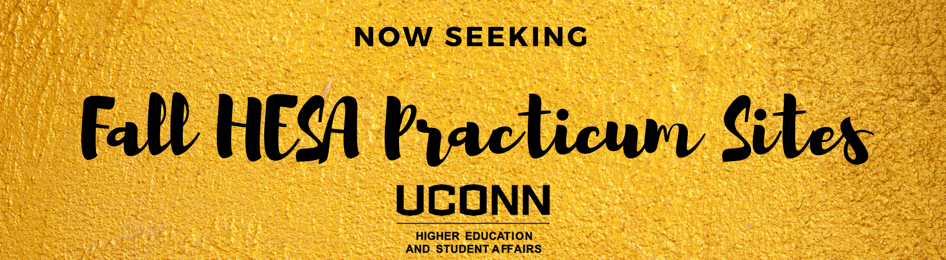 Now Seeking: Fall HESA Practicum Sites
