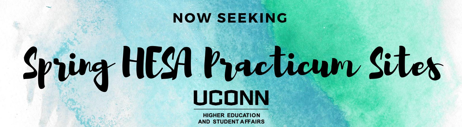 Now Seeking: Spring HESA Practicum Sites